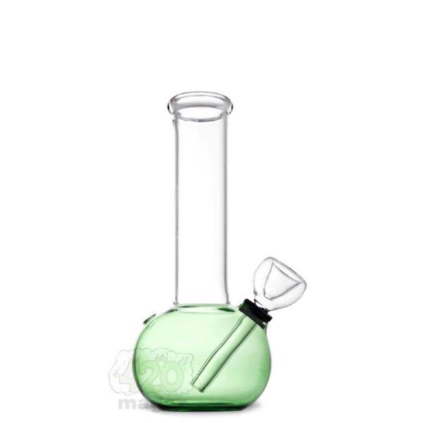 Зеленый стеклянный мини-бонг