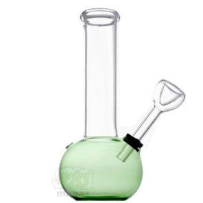 Зеленый стеклянный мини-бонг, 16 см
