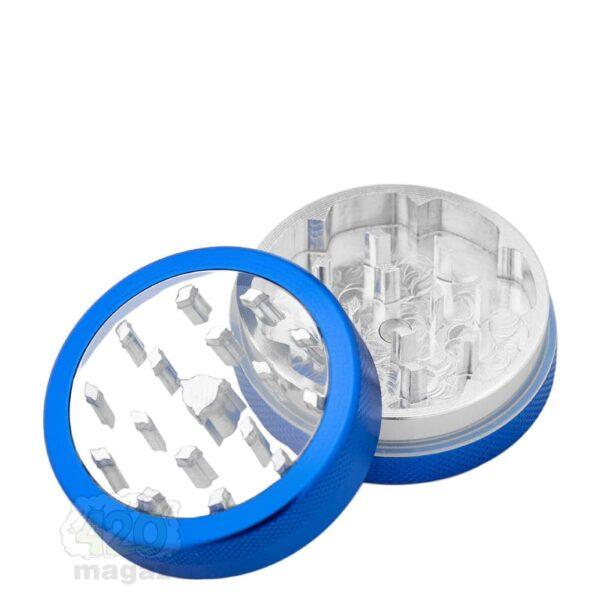 гриндер синий металлический 2 части, 50 мм