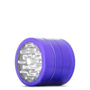 Металлический гриндер фиолетовый с прозрачной крышкой