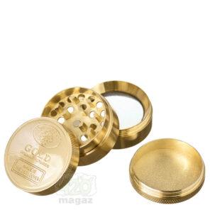 Гріндер металевий золотий 4 частини, 40 мм