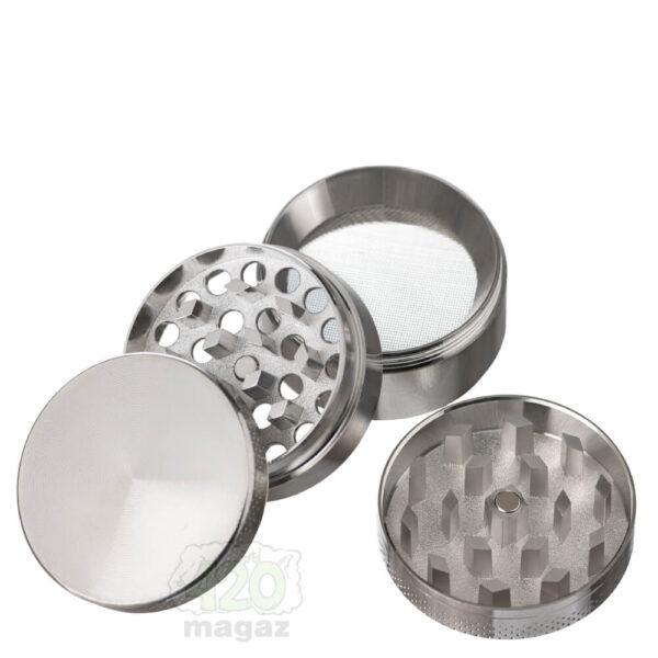 Гриндер металлический серебряный 4 части, 40 мм
