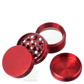 Гриндер металлический красный 4 части, 40 мм