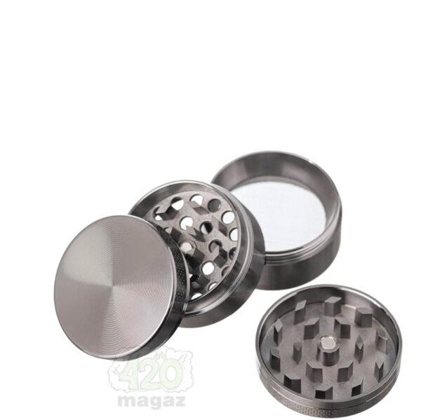 Гриндер металлический Dark Silver 4 части, 40 мм