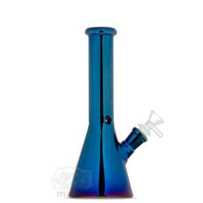 """Стеклянный синий айс бонг с хром эффектом """"Phoenix"""", 25 см"""
